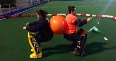 Strength training exercises for hockey goalkeepers by Ponte Las Guardas Field Hockey Quotes, Field Hockey Drills, Training Exercises, Strength Training Workouts, Train Insane Or Remain The Same, Hockey Gifts, Hockey Players, Goalkeeper, Lacrosse
