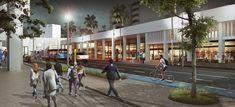 Colectivo 720 + De Arquitectura y Paisaje, segundo lugar en concurso de espacio público en la avenida Sexta de Cali, Colombia,Cortesía de Equipo Segundo Lugar Plaza Design, Cali Colombia, Jeddah, Urban Design, Landscape Architecture, Street View, Pageants, Second Best, Platform