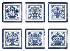 Tribal Patterns, Modern Cross Stitch Patterns, Flower Patterns, Cross Stitching, Cross Stitch Embroidery, Blue And White Style, Delft Tiles, Blue Cross, Needlepoint Patterns