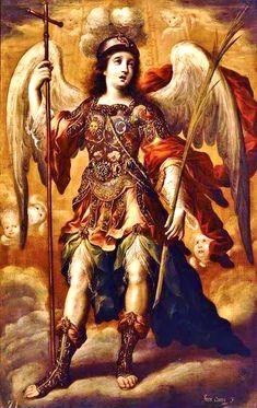 Late 17th - 'San Miguel Arcangel' (Arcangel Saint Michael), by Juan Correa (Mexican, 1646-1716), oil on canvas. Museo Franz Mayer, Mexico City, Mexico.