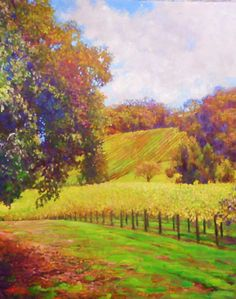 Warm Vineyard Oaks by Timothy Dixon, Oil, 30x24