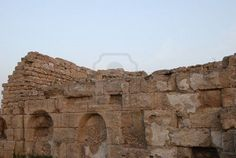 Ruins of an ancient Caesaria, city - a residence of Pontius Pilate, the procurator of Judea