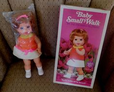 Vintage 1970's Mattel BABY SMALL WALK With Original Box #Mattel #DollswithClothingAccessories