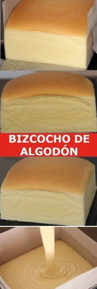 Mi Bizcocho de Algodon Japonês 🥧 Bread Recipes, Cake Recipes, Dessert Recipes, Cooking Recipes, Desserts, Bunt Cakes, Cupcake Cakes, Fast Easy Meals, Pan Dulce