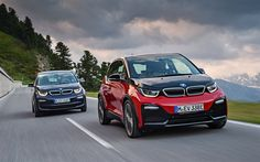 Download wallpapers BMW i3, 4k, BMW i3s, 2017 cars, road, compact cars, BMW