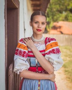 Slovakia Modern Outfits, New Outfits, Ethnic Fashion, African Fashion, Ethnic Design, Ethnic Style, Costumes Around The World, Scandinavian Folk Art, Country Women
