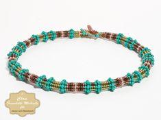 Learn how to make a beaded rope choker, necklace, or bracelet using tubular herringbone stitch.