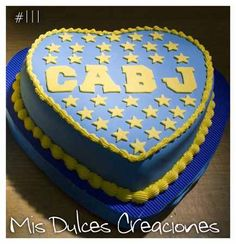 Torta escudo Boca Juniors Oreos, Sport Cakes, Fondant, Food And Drink, Birthday Cake, Banana, Baby Shower, Desserts, Decorating Cakes