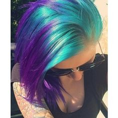 Blue and pink hair i love this because it looks like shes dyed her dye your hair simple easy to ombre pink hair color temporarily use ombre pink hair dye to achieve brilliant results diy your hair ombre with hair chalk solutioingenieria Gallery