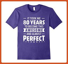 Mens 80 Years To Become Awesome 80th Birthday Shirt Born In 1937 Small Purple - Birthday shirts (*Partner-Link)