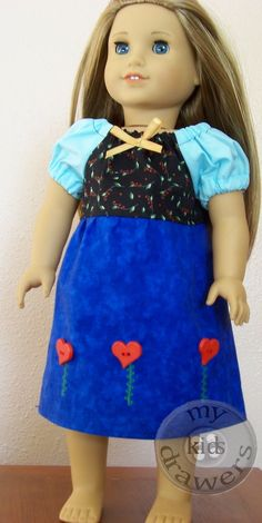 Princess Anna from Frozen American Girl Doll Dress - Coming to my Etsy shop 11/19 at 11 AM CST.  www.mykidsdrawers.etsy.com | Disney