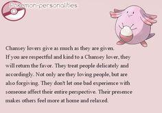 Pokemon Personalities - Chansey - #113/719.