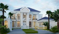 Yanti Private House Design - Semarang, Jawa Tengah- Quality house design of architectural services, experienced professional Bali Villa Tropical designs from Emporio Architect. Luxury House Plans, Dream House Plans, Modern House Plans, House Outside Design, House Front Design, Home Room Design, Dream Home Design, Beautiful Home Designs, Cool House Designs