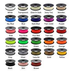 ANYCUBIC 28 Colors Optional 3D Printer PLA Filament 1KG/roll 1.75mm for 3D Printer /3D Pen/Reprap/Makerbot