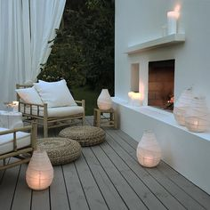 Lighting up your outdoor spaces is important, if you like spending time outdoors at night. Let's consider some ideas how to illuminate your terrace or patio. Outdoor Areas, Outdoor Rooms, Outdoor Living, Outdoor Furniture Sets, Outdoor Decor, Ikea Outdoor, Outdoor Seating, Luxury Furniture, Furniture Decor