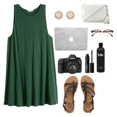 """i keep going to the river to pray"" by moonhauntedmyocean ❤ liked on Polyvore featuring Billabong, Canon, NARS Cosmetics, Kate Spade and Ray-Ban"