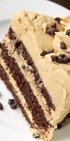 One Bowl Chocolate Cake Recipe, Chocolate Cake From Scratch, Cake Recipes From Scratch, Cake Chocolate, Chocolate Peanutbutter Cake, Chocolate Birthday Cakes, Chocolate Peanut Butter Frosting, Layer Cake Recipes, Homemade Cake Recipes