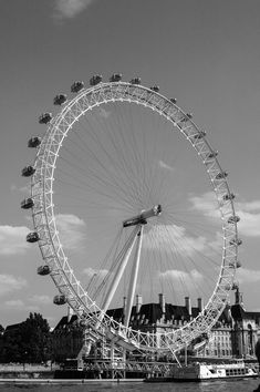 This is an image of London Eye, London, England, Uk. This photo was taken by Marie-Eve Painchaud, all rights reserved. England Uk, London England, London Eye, Professional Photography, Eve, Fine Art Prints, Black And White, Landscape, Studio