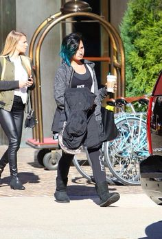 Demi Lovato outside her hotel in NYC October 2014