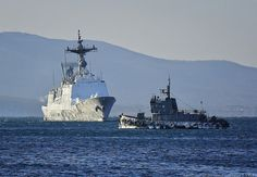 Korean warship arrived to Russia fully frozen