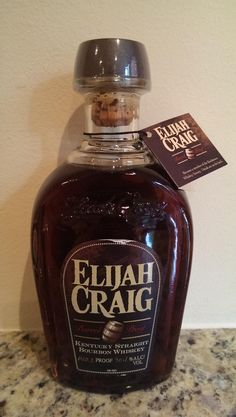 Elijah Craig Barrel Proof. 140.2 proof! #bourbon @thebottlespot http://www.bottle-spot.com/posts/81979/manhattan-new-york-whisky-for-sale---2014-elijah-craig-barrel-proof-bourbon-whiskey-6th-release-hazmat