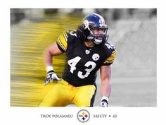 Troy Polamalu Picture at Pittsburgh Steelers Photo Store