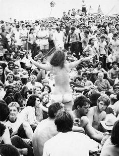 HILLARY CLINTON....THEN vs now.    Woodstock Festival