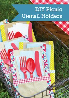 Craft an adorable DIY home for picnic utensils and make cleanup a breeze!