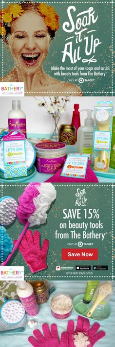 Which DIY Spa Treatment do you need to indulge in?  Take 15% off at @target and treat yourself to #MyBathery DIY Spa Treatments: http://freebies4mom.com/mybathery #ad