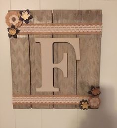 LETTER wood signs