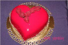 Coeur bavarois chocolat framboises