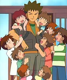Brock's siblings - Bulbapedia, the community-driven Pokémon encyclopedia Brock Pokemon, Pokemon Live, Gold Pokemon, Pokemon People, Cute Pokemon, Pokemon Pokemon, Cool Anime Pictures, Pokemon Pictures, Pokemon Rouge
