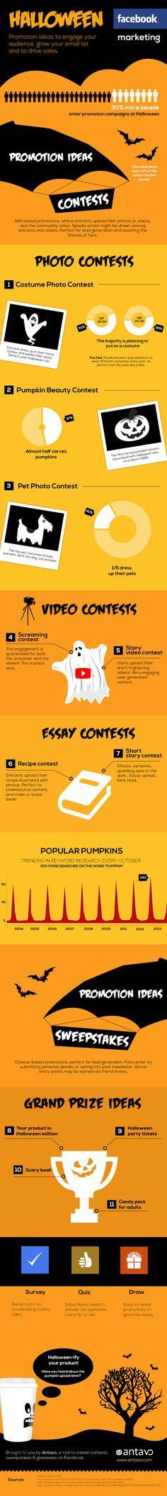 """¿Sabías que el 30% de los usuarios participan en campañas """"terroríficas""""? Descubre cómo aprovechar el tirón de #Halloween para tu estrategia de marketing online. #Infografía #SocialMedia"""