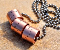 Men's HandStamped Copper Pipe Morse Code by CarriesCustomDesigns, $68.00