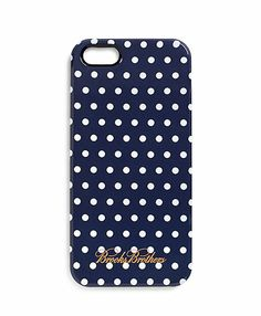 Brooks Brtohers Navy and White Polka Dot iPhone 5 Case