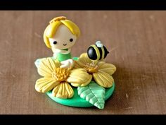 Spring Flower Fairy & Bee  Figurine polymer clay tutorial