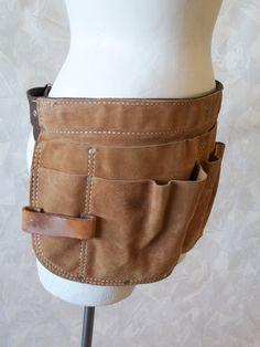 Distressed Leather  - Workman's Tool Belt Apron