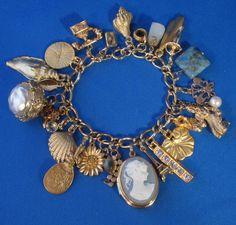 vintage charms on bracelet