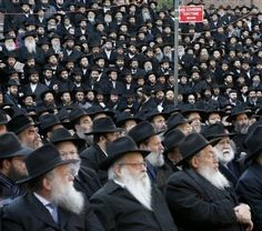 Rabbis from the Chabad-Lubavitch movement pose for a group photograph in Brooklyn, New York    The Lubavitcher movement is one of the largest Hasidic movements in Orthodox Judaism, and is based in the Crown Heights district of Brooklyn, New York.
