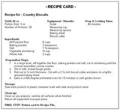 menu costings template