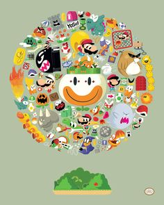 Christopher Lee - Super Mario World Print
