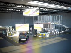 Nokia Tradeshow Booth and Convention Hall architectural rendering.