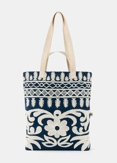 Organic Cotton Flora Embroidered Tote   Rodale's