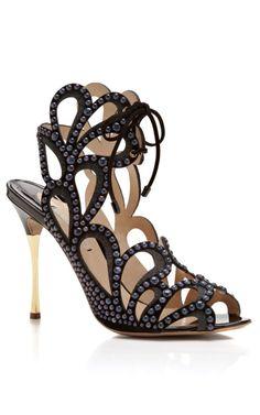 ♕ℛ.  Suede & Stud Metal Heel Sandal by Nicholas Kirkwood
