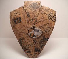 Coffee is always a good IDEA/ Handmade Original Vintage Eyeglass Necklace Jewelry