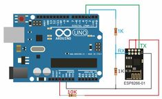 WiFi module connection to Arduino used RemoteXY Rfid Arduino, Esp8266 Wifi, Arduino Uno, Electronic Circuit Projects, Arduino Projects, Hobby Electronics, Electronics Projects, Wi Fi, Router Wifi