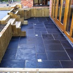 Outside - Bradstone, Natural Limestone Paving Blue-Black Patio Pack - 15.30 m2 Per Pack £22 / sqm