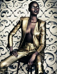 Supermodel Ajak Deng by Paolo Roversi for AnOther (Fall 2011)     #models #fashion #black