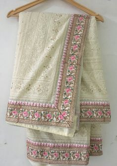 Excited to share this item from my shop: Indian pure Lucknowi Chikankari sarees Gotta patti sari kundan border custom made blouse for women's thread embroidery wedding ivory saree Party Wear Dresses, Party Wear Sarees, Work Dresses, Prom Dress, Handloom Saree, Georgette Sarees, Chikankari Suits, Bridal Lehenga Choli, Saree Wedding