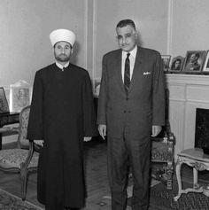 الزعيم جمال عبد الناصر و مفتي الجمهورية اللبنانية الشهيد حسن خالد